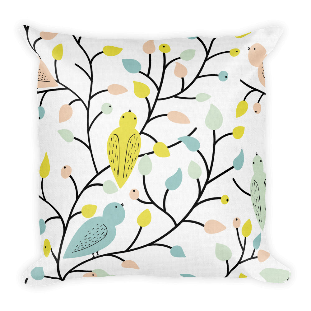 Bright Bird Pillow - Tee Gurls