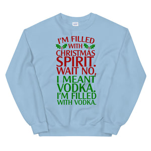 Drunk Christmas Spirit Sweatshirt - Tee Gurls