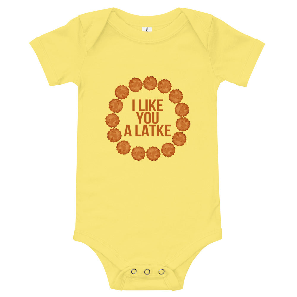 I Like You A Latke Baby Onesie - Tee Gurls