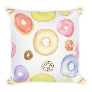Donut Pattern Pillow - Tee Gurls