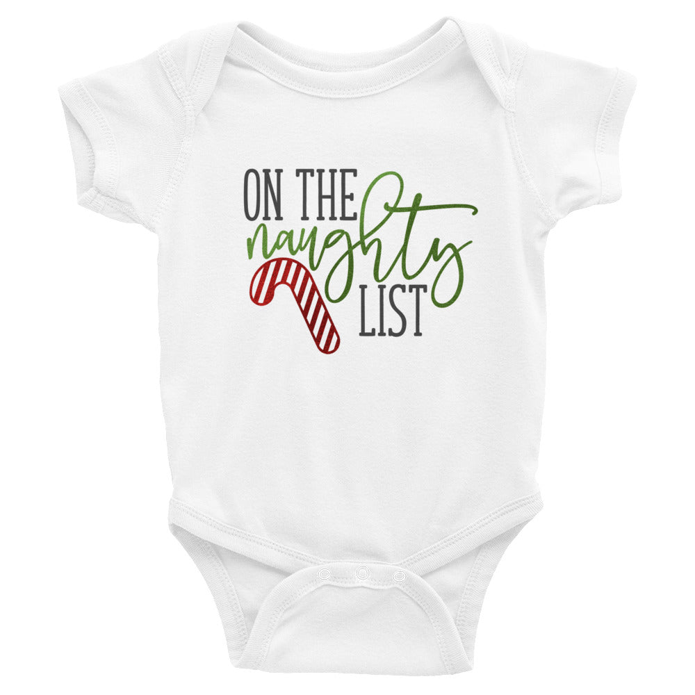 On The Naughty List Onesie