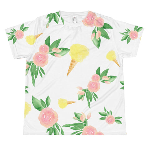 Summertime Colorblock All-Over Print Youth T-shirt - Tee Gurls