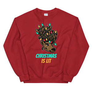 Christmas Is Lit Sweatshirt - Tee Gurls