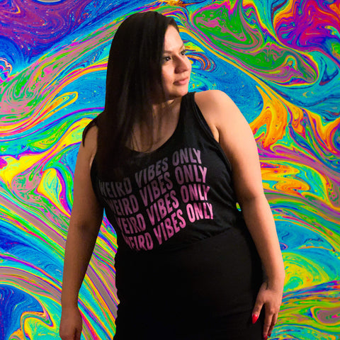 Weird Vibes Only Tank Top - Tee Gurls
