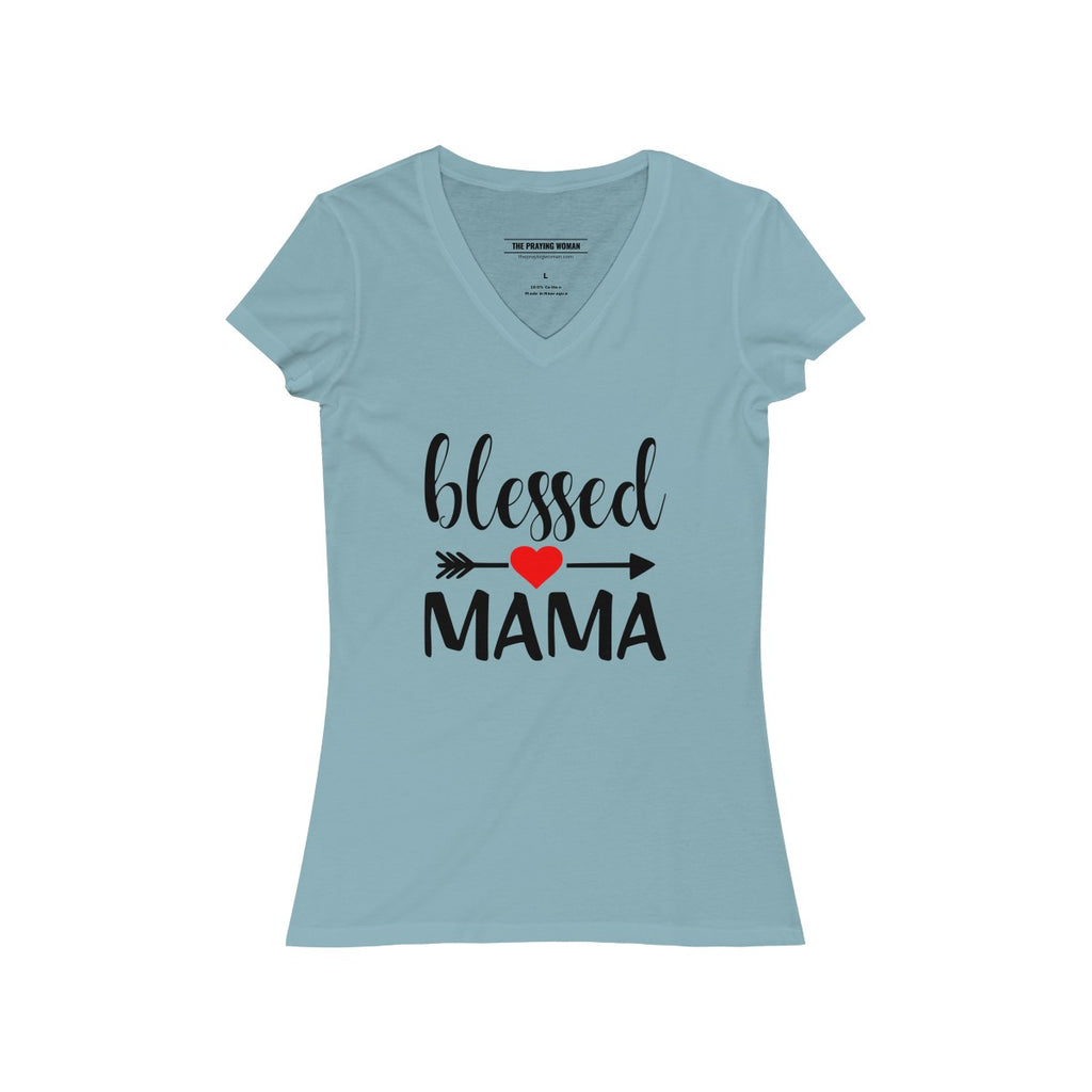 Blessed Mama V-Neck Tee
