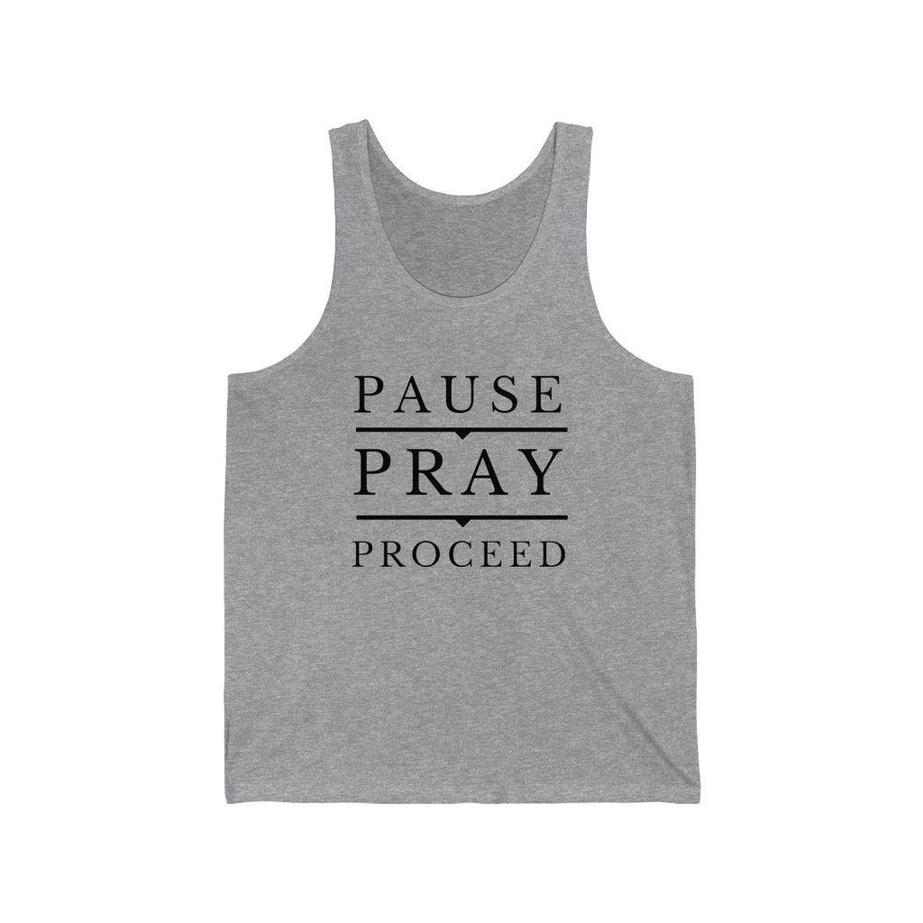 Pause Pray Proceed Jersey Tank Top