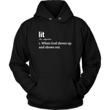 Lit Definition Hoodie - The Praying Woman