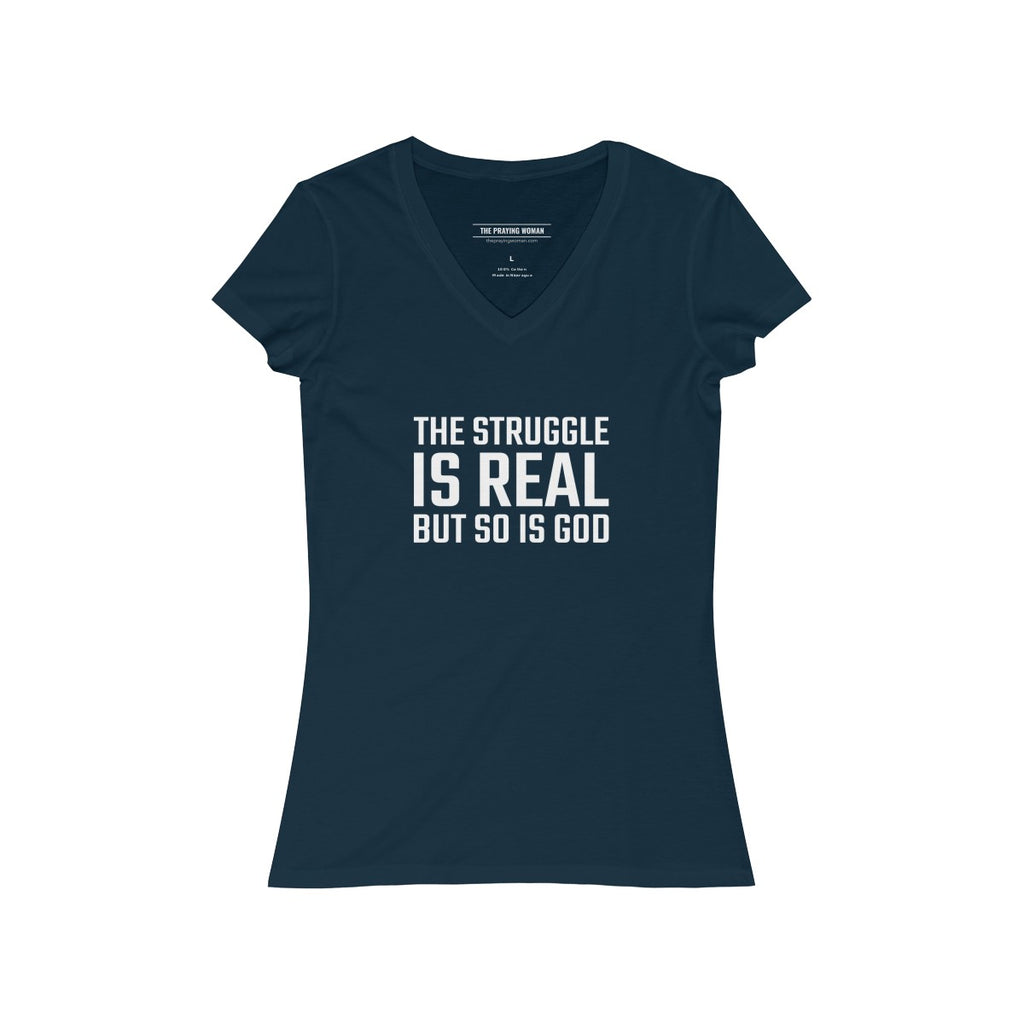 The Struggle is Real V-Neck Tee