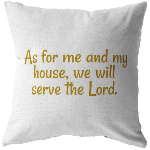 Joshua 24:15 Pillow - The Praying Woman