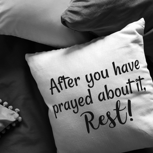After You Have Prayed, Rest Pillow - The Praying Woman