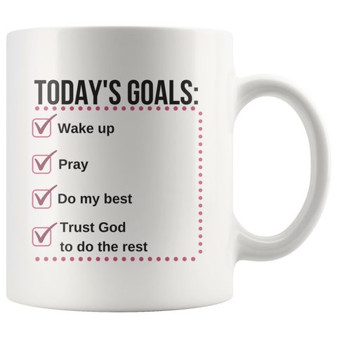 Today's Goals Mug - The Praying Woman