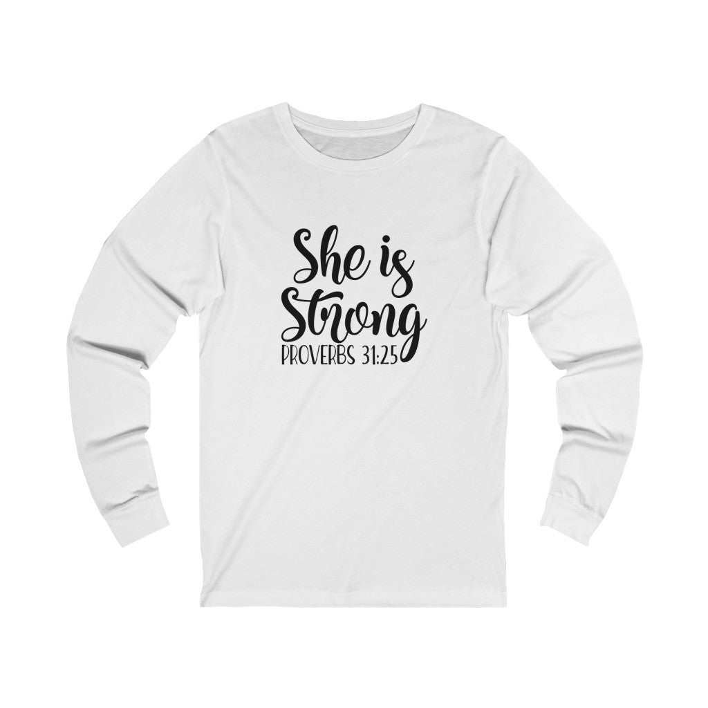 She is Strong Long Sleeve Tee