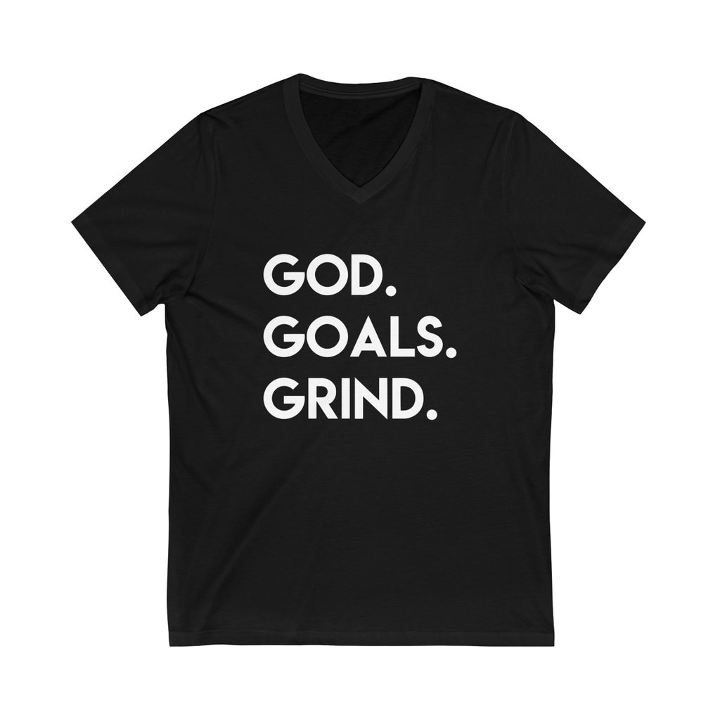 God Goals Grind Short Sleeve V-Neck Tee