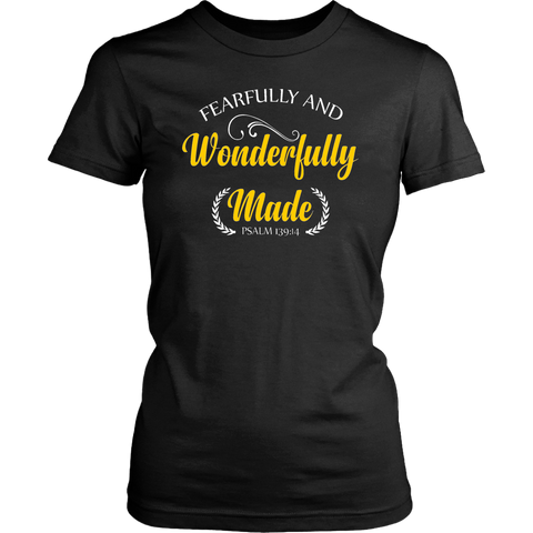 Fearfully and Wonderfully Made T-Shirt (Gold Edition)