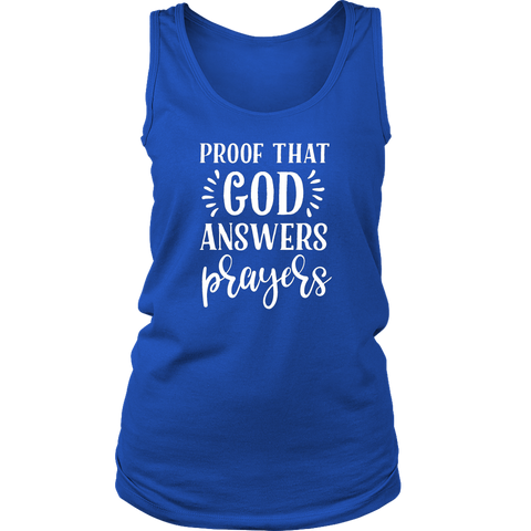 Proof That God Answers Prayers Tank Top - The Praying Woman