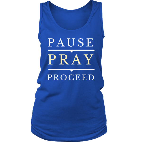 Pause Pray Proceed Tank Top - Pretty Praise