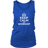 Keep Calm and Worship Tank Top - The Praying Woman