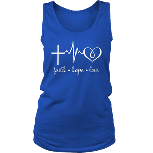 Faith Hope Love Tank Top - The Praying Woman