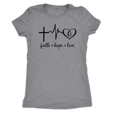 Faith Hope Love Triblend T-Shirt - The Praying Woman