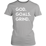 God Goals Grind T-Shirt (Ladies) - The Praying Woman