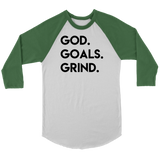 God Goals Grind Raglan Shirt - The Praying Woman