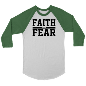 Faith over Fear Raglan Shirt - The Praying Woman