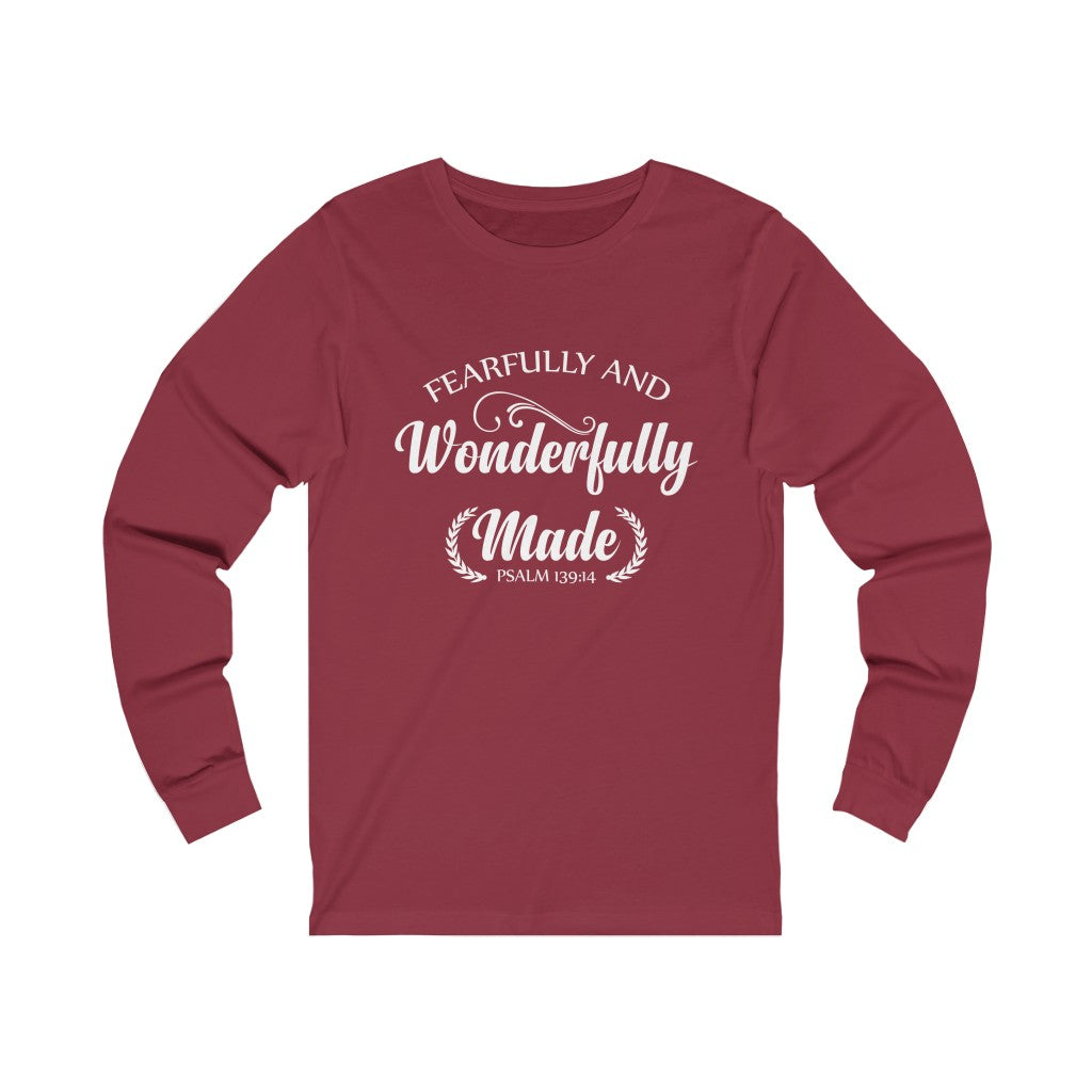 Fearfully and Wonderfully Made Long Sleeve Tee