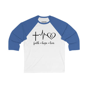 Faith Hope Love Baseball Tee