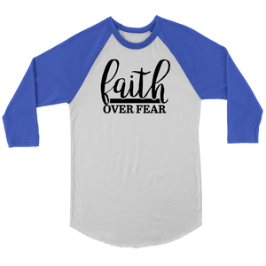 Faith over Fear Raglan Shirt II - The Praying Woman