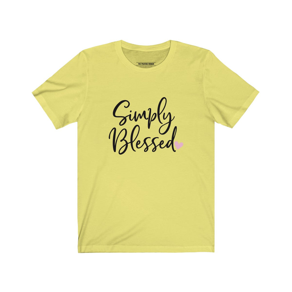 Simply Blessed Short Sleeve Tee