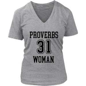 Proverbs 31 Short Sleeve V-Neck Tee