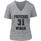 Proverbs 31 Woman V-Neck - The Praying Woman