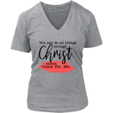 You Can Do All Things... V-Neck - The Praying Woman