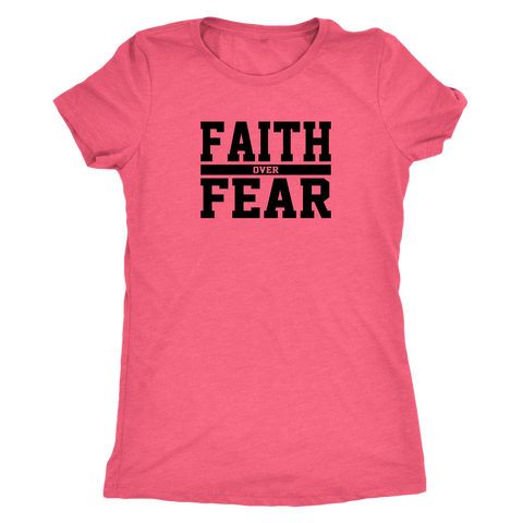 Faith Over Fear Triblend T-Shirt - The Praying Woman