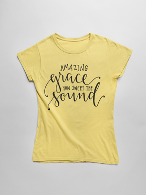 Amazing Grace Short Sleeve T-Shirt - The Praying Woman