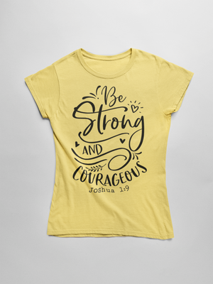Be Strong and Courageous Short-Sleeve T-Shirt - The Praying Woman