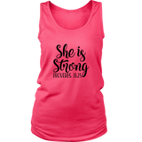 She is Strong Tank Top - The Praying Woman