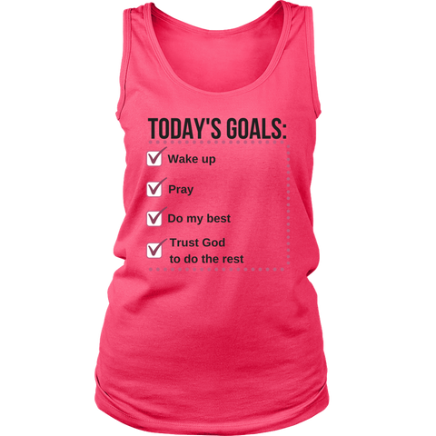 Today's Goals Tank Top - Pretty Praise
