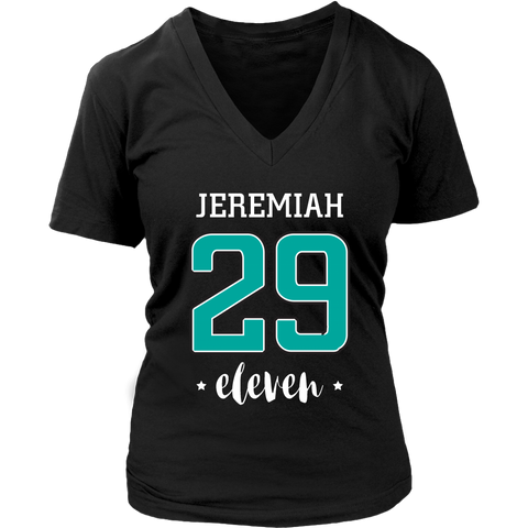 Jeremiah 29:11 V-Neck T-Shirt - The Praying Woman