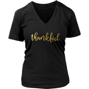 Thankful Short Sleeve V-Neck Tee