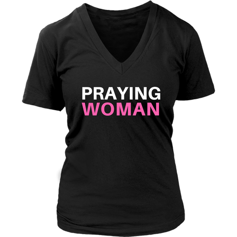 Praying Woman V-Neck - The Praying Woman