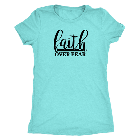 Faith over Fear Triblend Shirt II - The Praying Woman