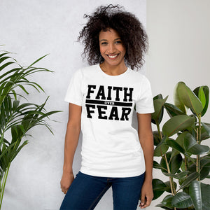 Faith Over Fear Short-Sleeve T-Shirt - The Praying Woman