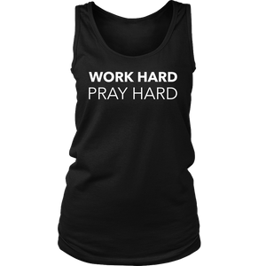 Work Hard Pray Hard Tank Top - The Praying Woman