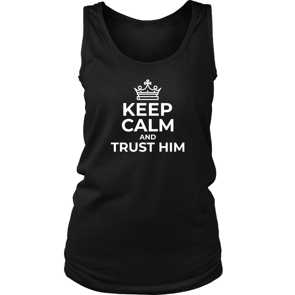 Keep Calm and Trust Him Tank Top - The Praying Woman