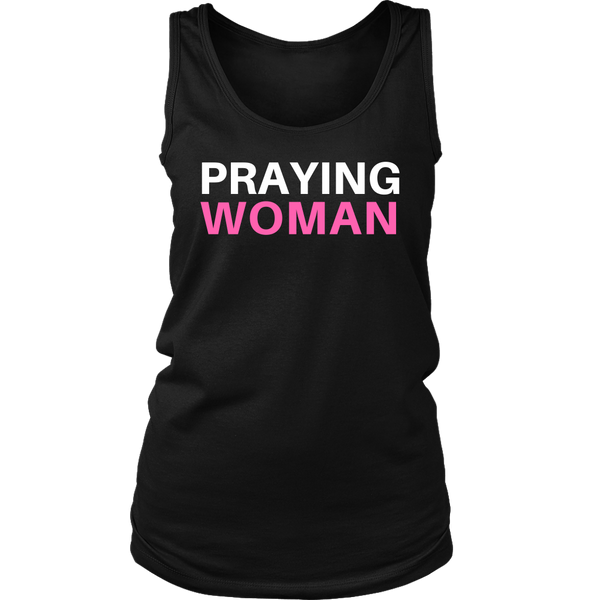 Praying Woman Tank Top - Pretty Praise
