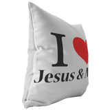 I Love Jesus & Naps Pillow - The Praying Woman