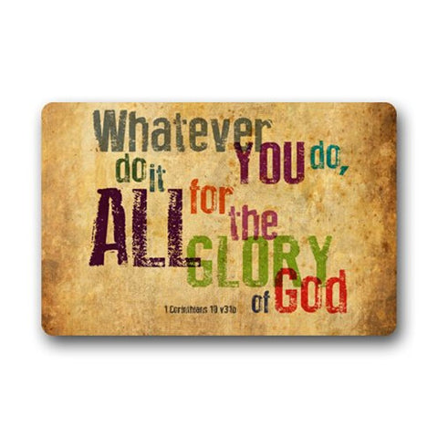 Do it All for the Glory of God Doormat