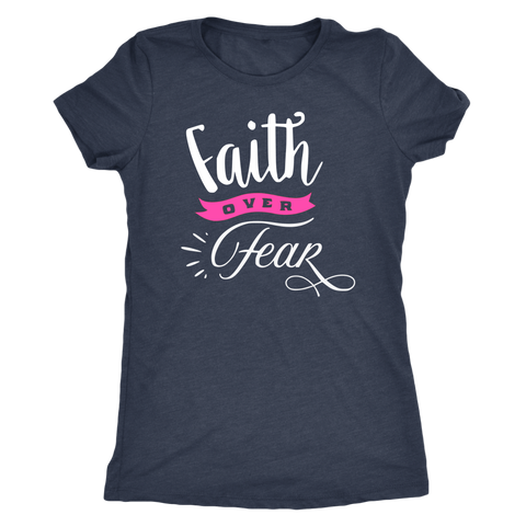 Faith over Fear Triblend T-Shirt III - The Praying Woman
