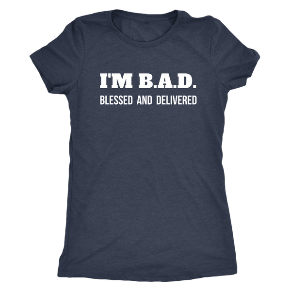 Blessed and Delivered Triblend T-Shirt - The Praying Woman